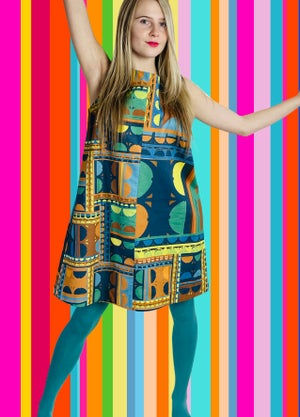 Image of Valleri in the City Dress :  Blue