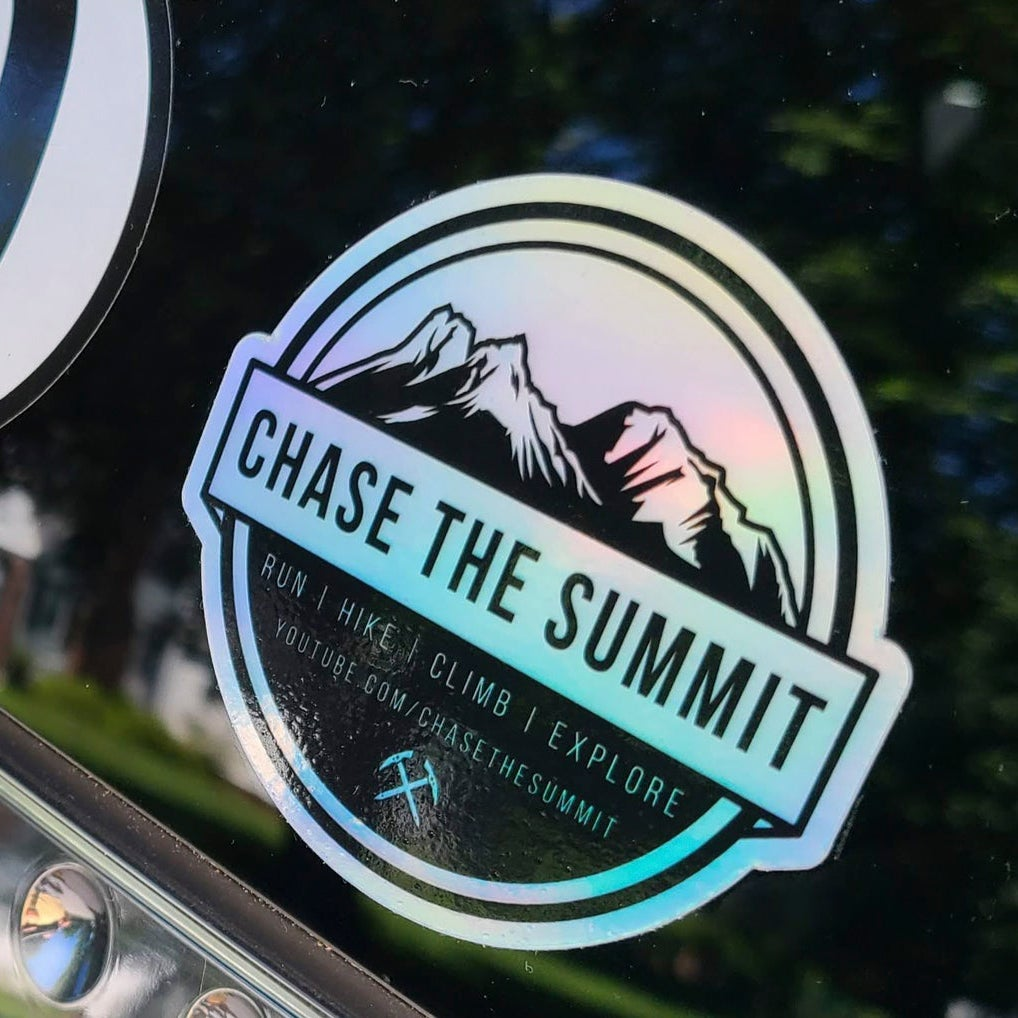 Image of Chase the Summit Holographic Stickers