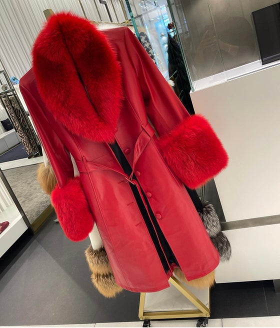 Image of Leather x Fur Trench