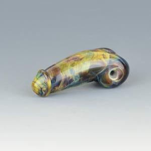 Image of Blue Chalcedony #3 - Flamework Glass Phallus Charm Bead