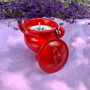 Warm Vanilla Sugar Happiness 4 oz Red Cauldron Candle