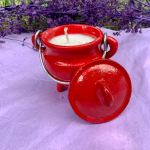 Coconut Cleansing 4 oz Red Cauldron Candle