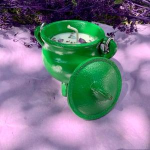 Warm Vanilla Sugar Happiness 4 oz Green Cauldron Candle