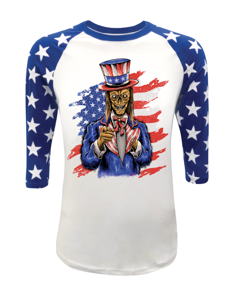 Image of Ghoul Time in The USA Baseball Tee PRE ORDER