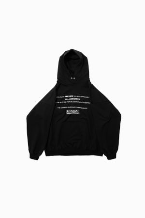 Image of RESTRICTED FRENCH TERRY HOODED SWEATSHIRT