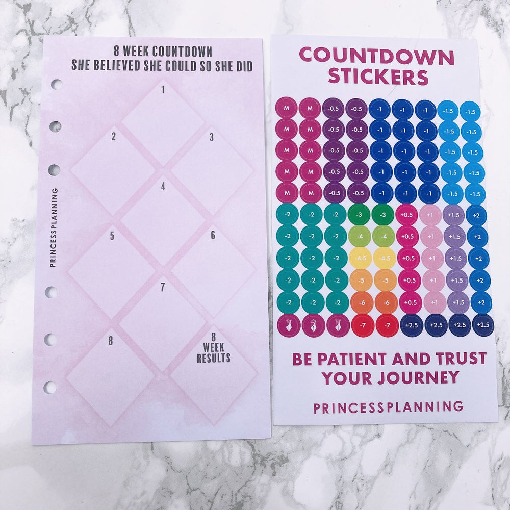 Image of PETITE PLANNER 8 WEEK COUNTDOWN INSERT - SHE BELIEVED SHE COULD SO SHE DID