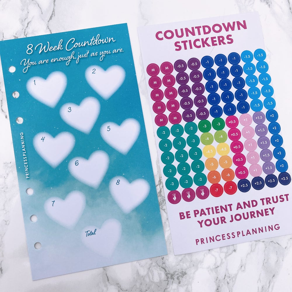 Image of PETITE PLANNER 8 WEEK COUNTDOWN INSERT - YOU ARE ENOUGH JUST AS YOU ARE