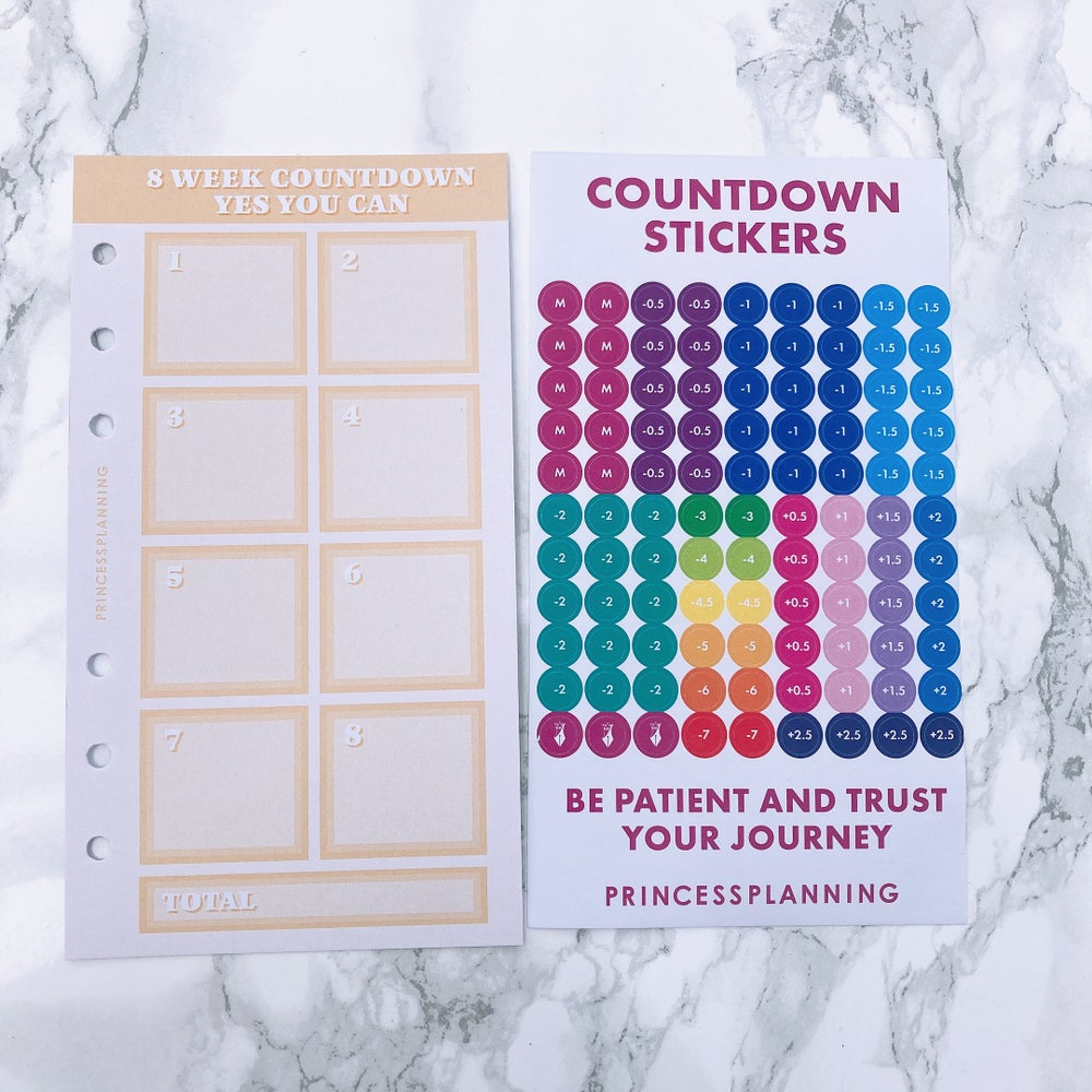 Image of PETITE PLANNER COUNTDOWN WITH STICKERS - YES YOU CAN