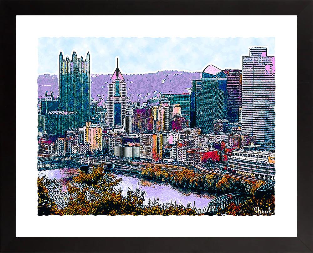 Pittsburgh City Skyline Giclée Art Print (Multi-size options)