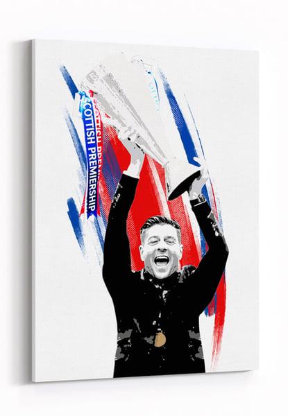 Image of Champions - Steven Gerrard Lifting Trophy
