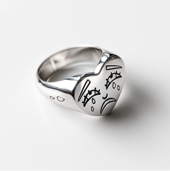 Image of Crying Heart Ring
