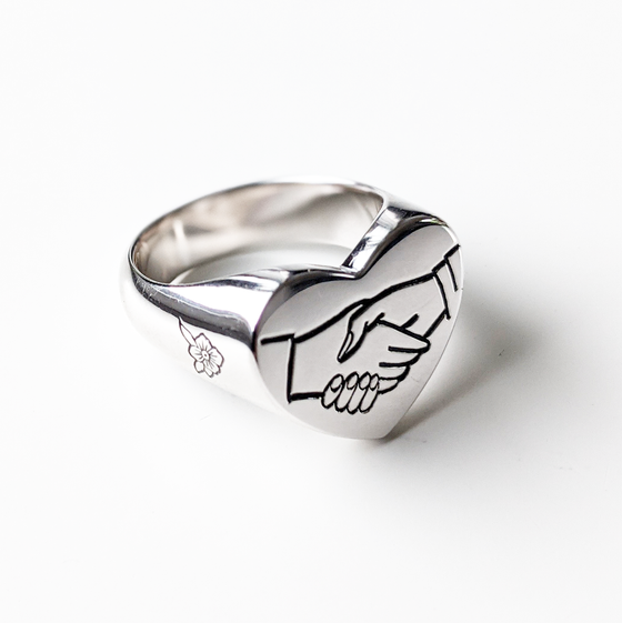 Image of Shaking Hands Ring