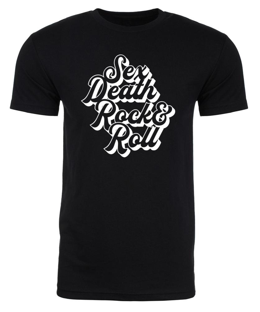 Image of CURSIVE SEX DEATH ROCK N ROLL UNISEX T