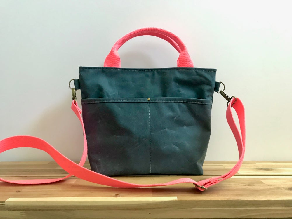 Image of PRE-ORDER Teal Crossbody Crafting Tote