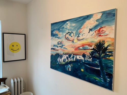 "Image of Jardines Sunset 40"" x 30"" oil on canvas"
