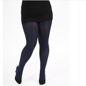 Navy Opaque Tights with free postage