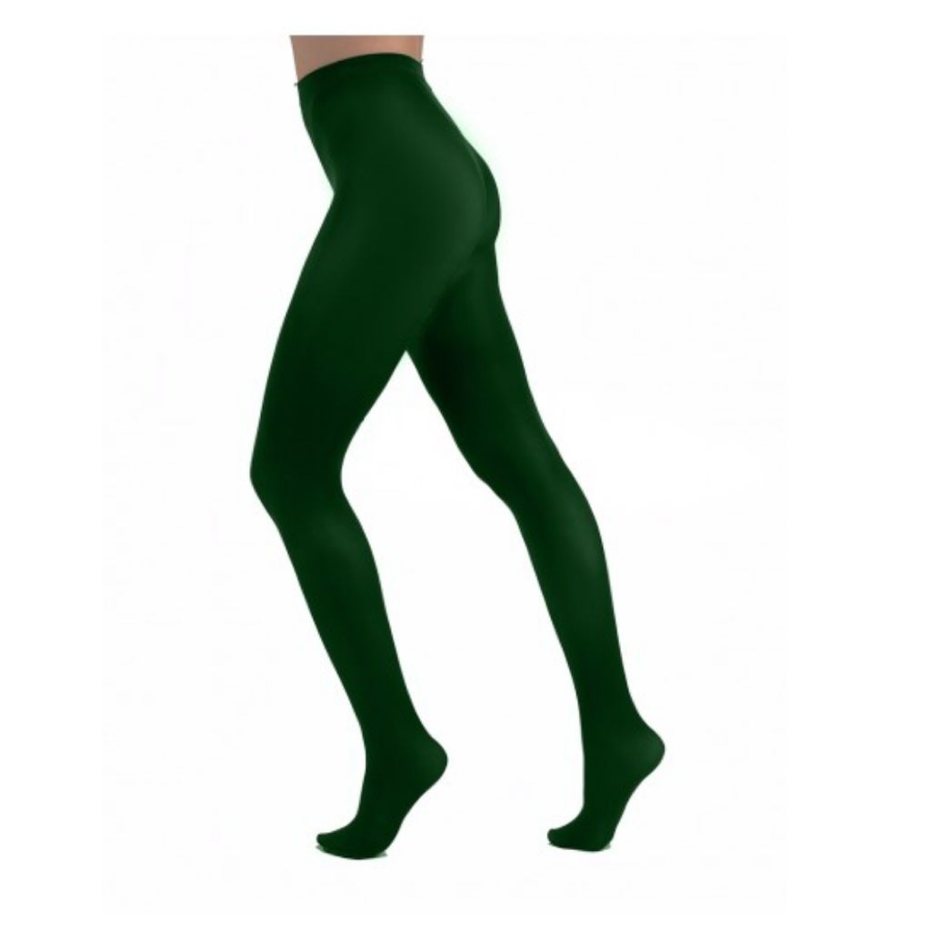 Forest Green Opaque Tights with free postage