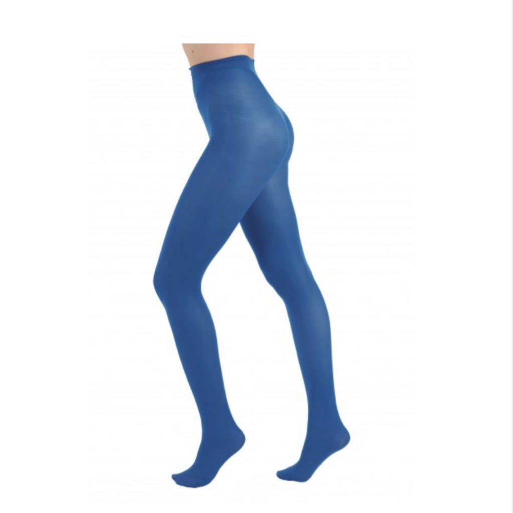 Cobalt Blue Opaque Tights with free postage