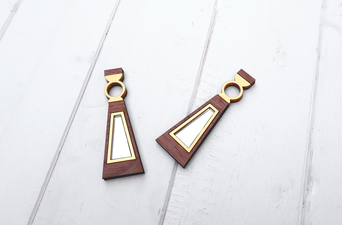 Image of Geometric Triangle Earrings