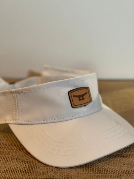 Image of White/ brown leather patch