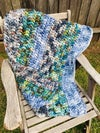 Crocheted Chunky Blanket 'Landscape'