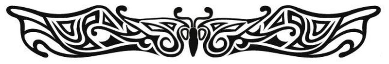 Image of Butterfly Glo 9 Inch Glow in the Dark Tattoo