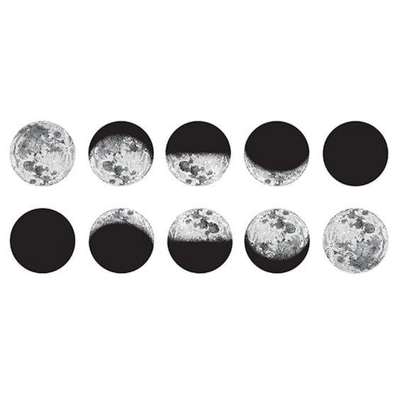 "Image of Moon Phases 2 Tattoo Set - 8"" Tattoos"