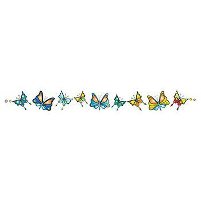 Image of Colorful Butterflies 6 Inch Tattoo