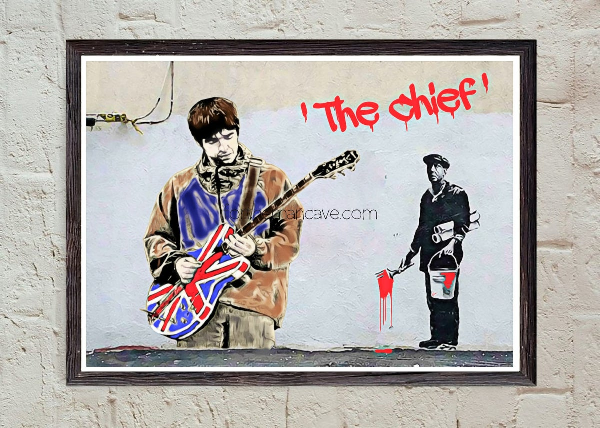 """Image of BANKSY STYLE - """"THE CHIEF"""" PRINT"""