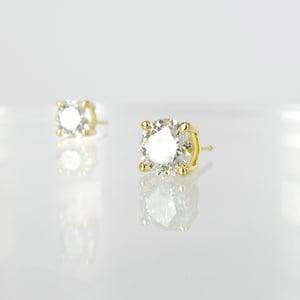 Image of Yellow gold diamond studs = 2.02ct GSI3 total weight. PJ5819