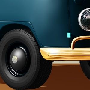 Image of VW Campervan Art - Still Life