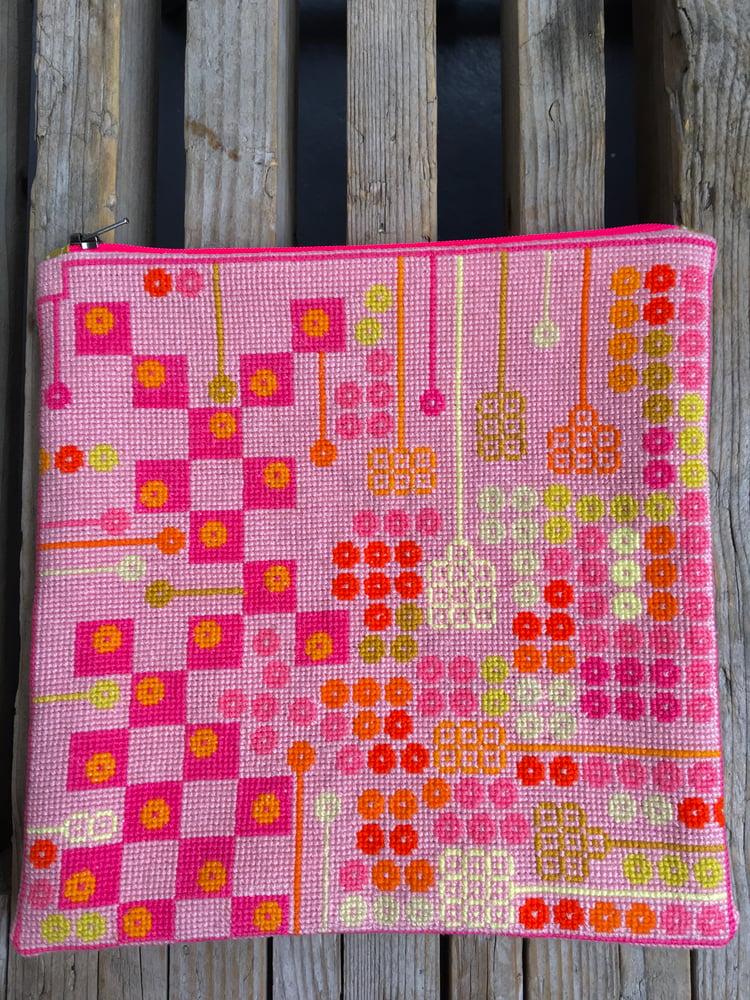 Image of GARN-ITURE EMBROIDERY KIT / GARDENPLANS ( pink /mouline)