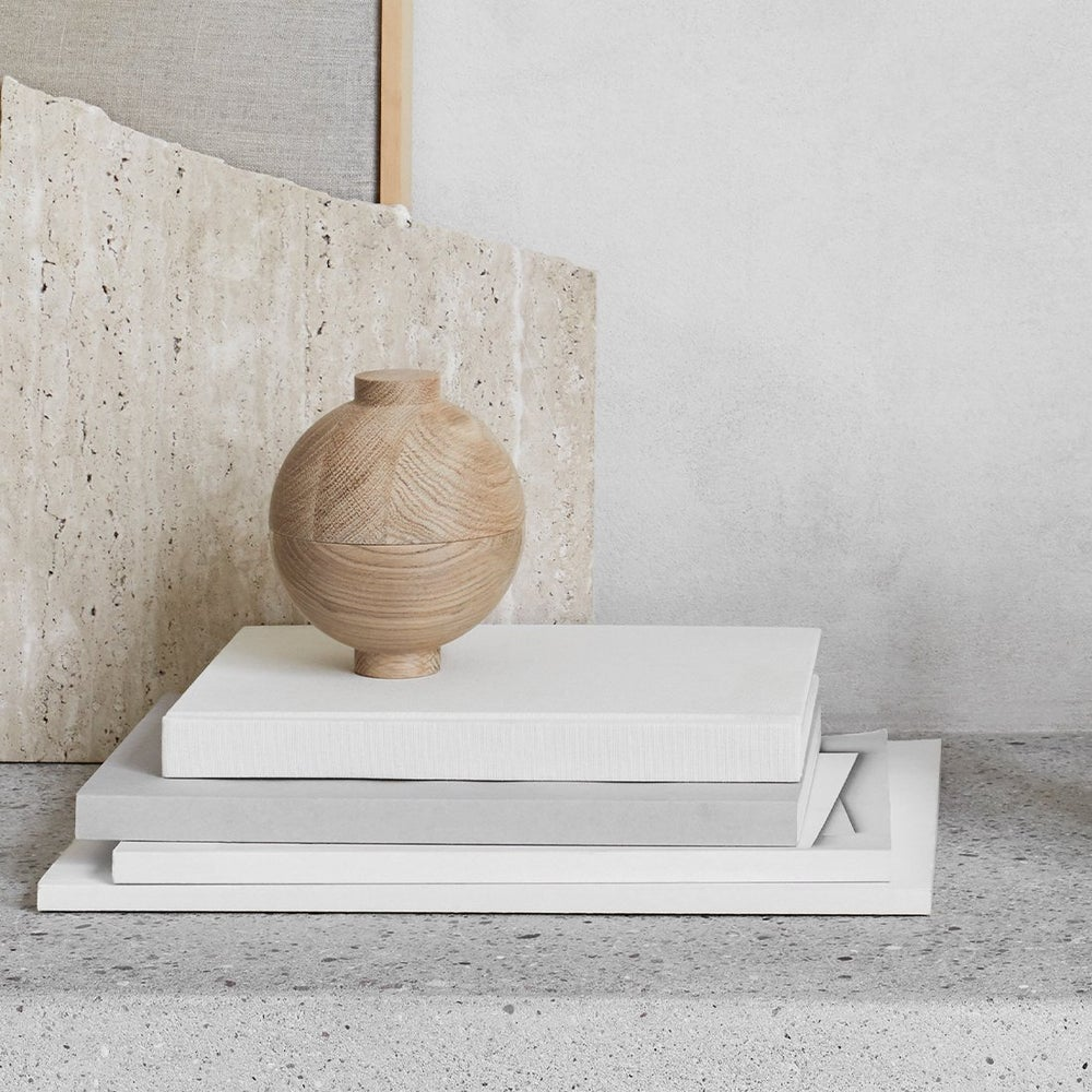 Image of XL Wooden sphere pot by Kristina Dam