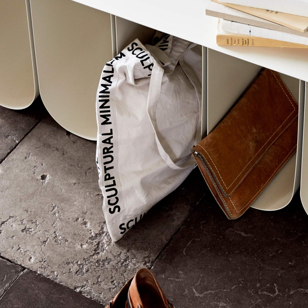 Image of Sculptural minimalism canvas tote bag