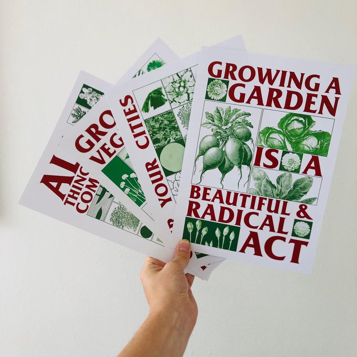 Image of Radical Gardening A4 print set