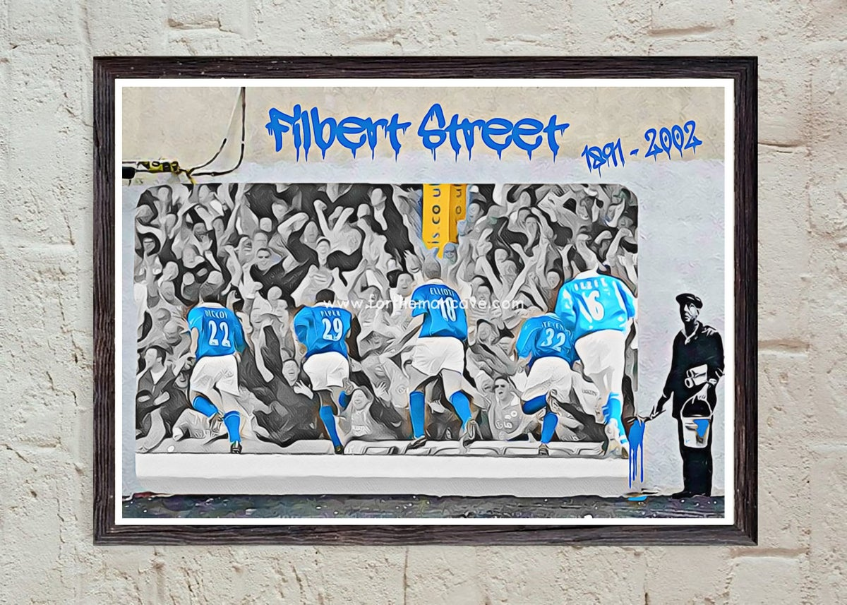 """Image of BANKSY STYLE - """"FINAL GAME AT FILBERT STREET LCFC"""" PRINT"""