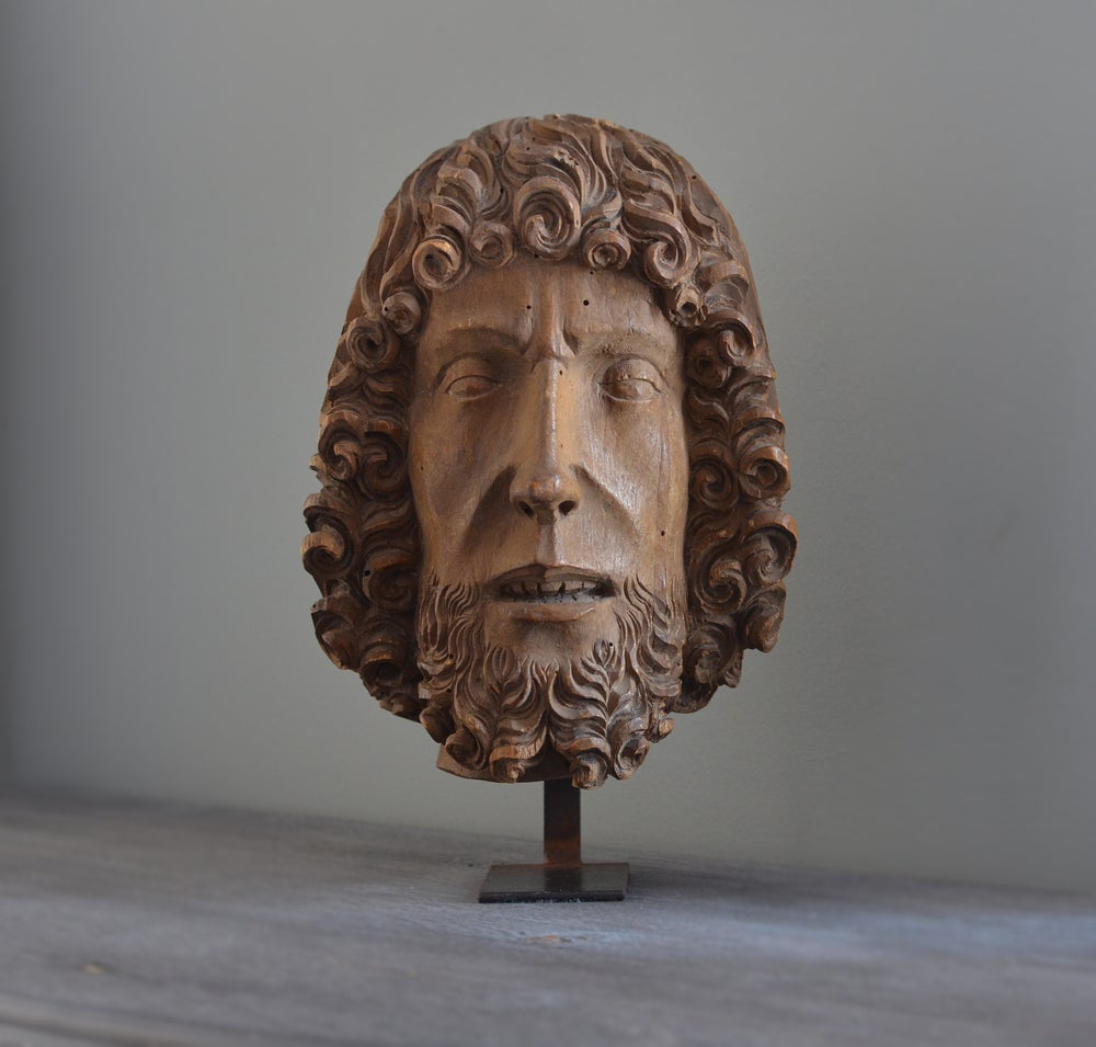 Image of Head of John the Baptist attributed to Bernt Notke, 15th cent.