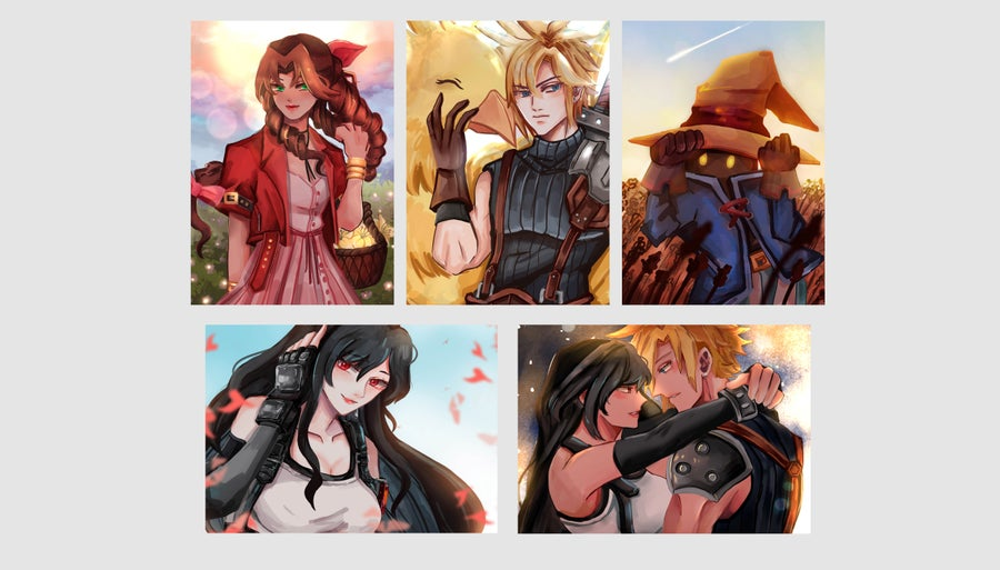 Image of Final Fantasy Postcards