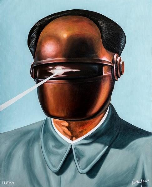 Image of Machine Men Chairman Gort Oil On Canvas.