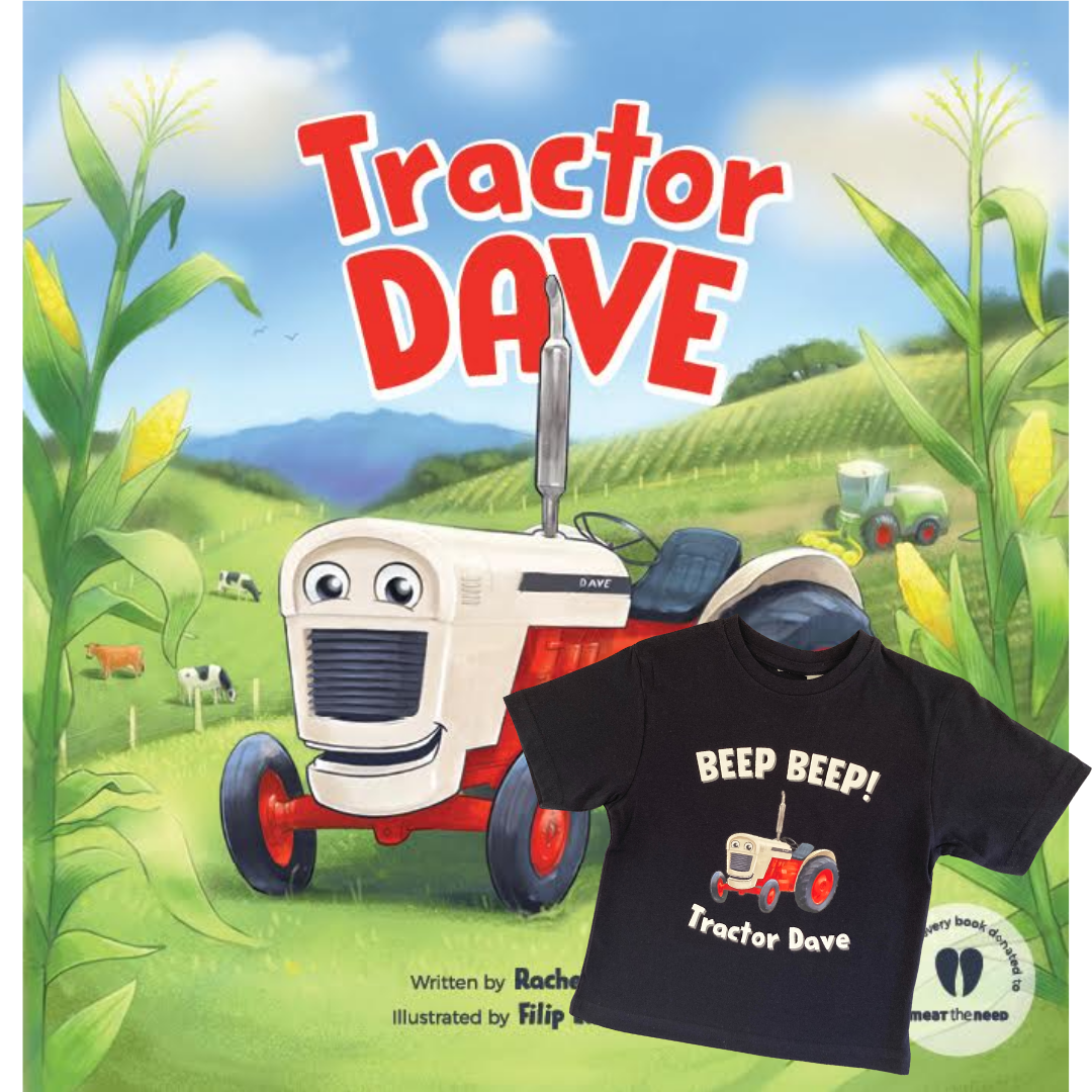 Tractor Dave Book + Tee Combo