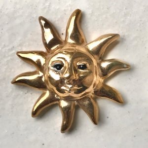 Image of Alchemical Sun and Moon Brooches