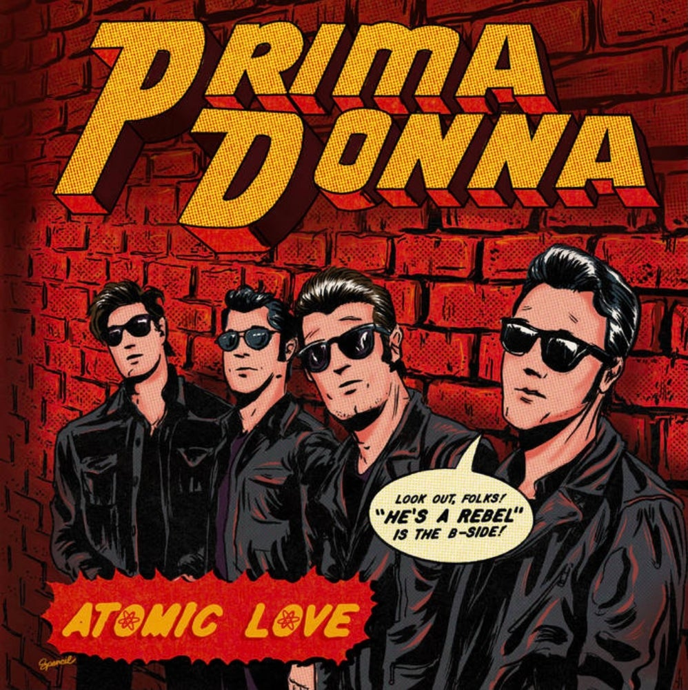 "Image of Atomic Love/He's A Rebel vinyl single Transparent ""Atomic Orange"" 7"""