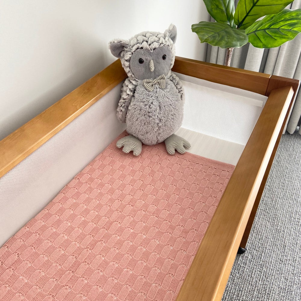 Image of Baby knitted blanket - Weave Design