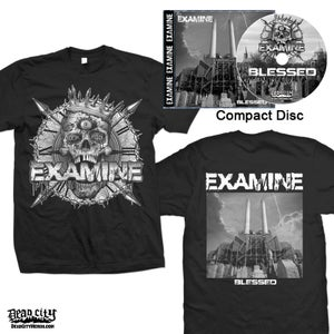 """Image of EXAMINE """"Blessed"""" CD and T-Shirt"""