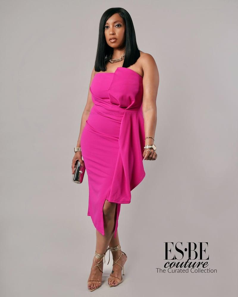 Image of Cascade Midi Dress
