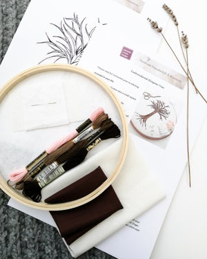Image of Embroidered Blossom Tree DIY Kit