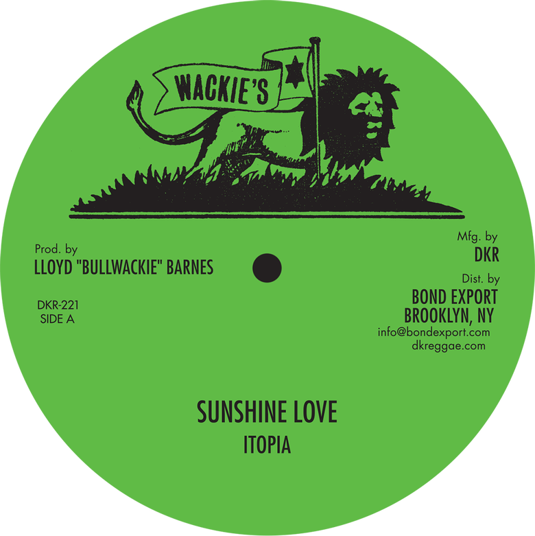 """Image of Itopia - Sunshine Love / Keep a Rocking / Get Over 12"""" (Wackie's)"""