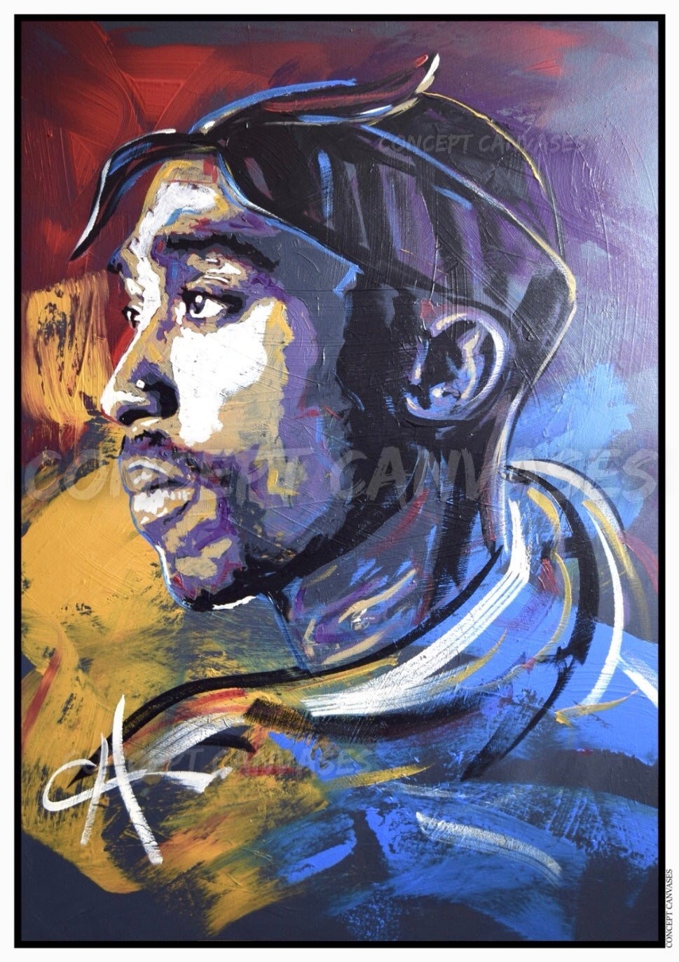 Image of Tupac 'The Realist' A3 Print