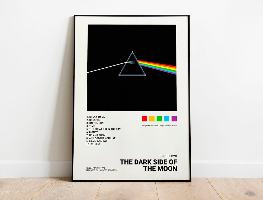 Pink Floyd - The Dark Side of the Moon, Album Cover Poster