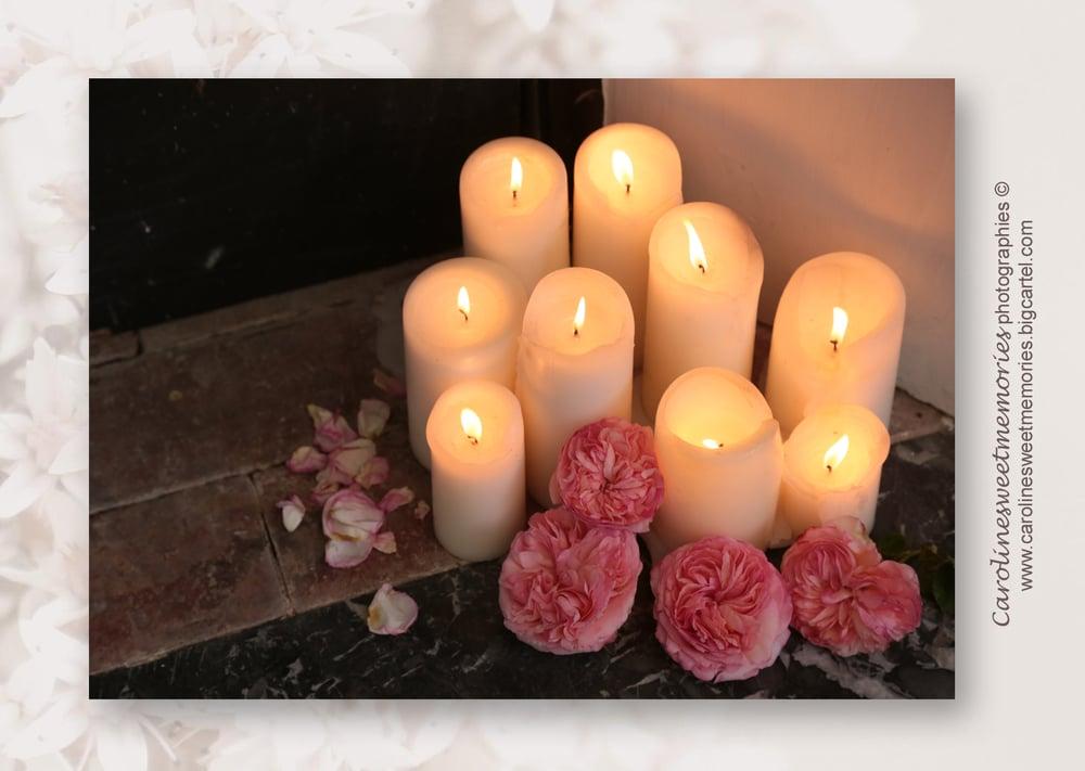 Image of Les bougies et les roses | carte postale